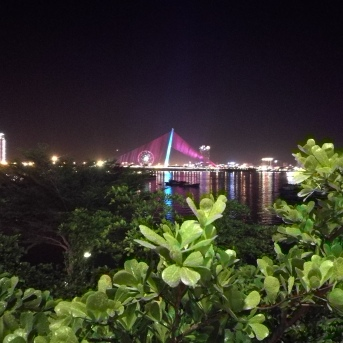 A different bridge in Da Nang (Facing away from Dragon Bridge)